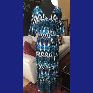 Avenue Tribal Print Maxi Dress